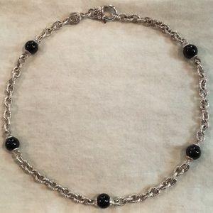 Judith Ripka SS Onyx necklace